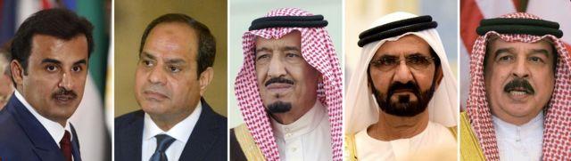 Körfez ülkeleri liderleri