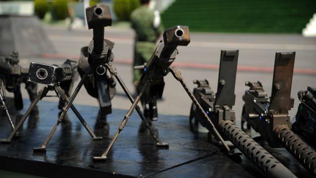 Armas confiscadas en MX