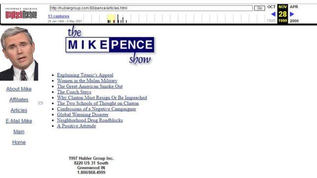 Página web del programa de radio de Mike Pence