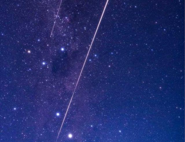 Imagen de la Agencia de Exploración Espacial de Japón de la trayectoria del asteroide.