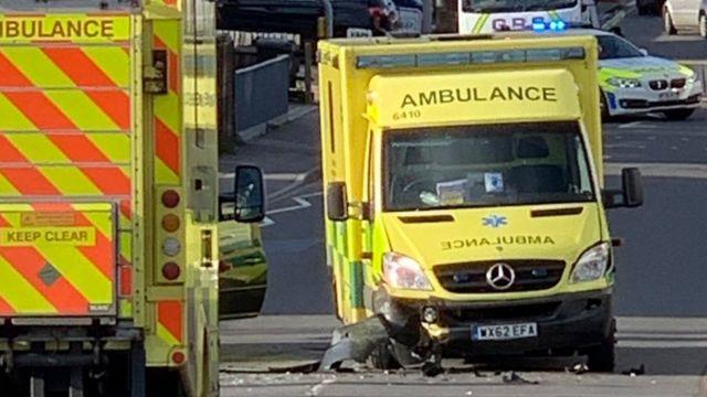 Christchurch ambulance crash car 'failed to stop for police'