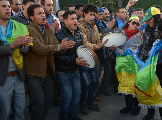 أمازيغ مغاربة يحتفلون بقدوم رأس السنة الأمازيغية (أرشبف 2014).