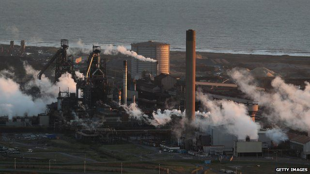 Tata steel works, Port Talbot