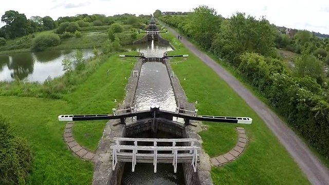 Canal system with locks