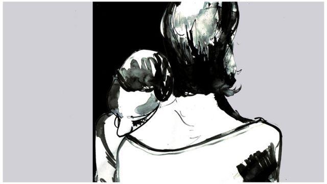 男人和女人擁抱
