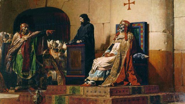 """Папа Формоз и Стефан VI"" (художник Жан-Поль Лоран, 1870 год)"