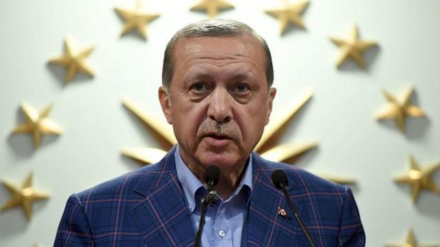 นายราจิป ทายยิป แอร์โดอัน ประธานาธิบดีตุรกี