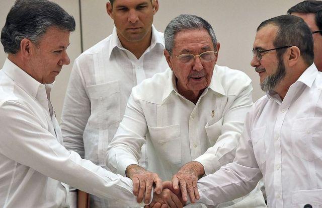 Acuerdo de Paz entre Santos y Timochenko
