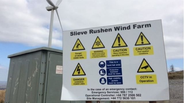 The firm has now left the Slieve Rushen Wind Farm site
