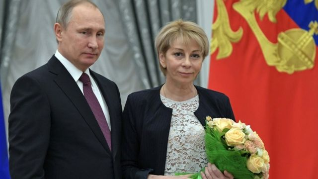 اليزافيتا غلينكا مع الرئيس بوتين