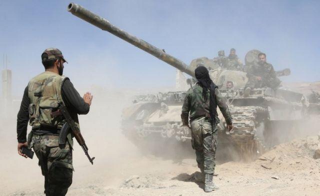 Hükümet yanlısı güçler İslamcı örgütleri Guta'dan çıkarmak için mücadele ediyor