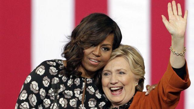 हिलेरी क्लिंटन और मिशेल ओबामा