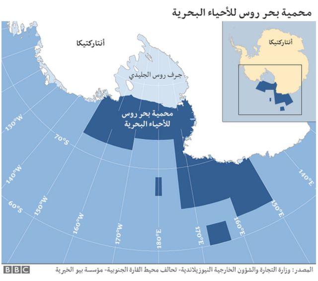 خريطة لمحمية بحر روس