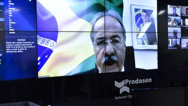 Chico Rodrigues em sessão do Senado por vídeoconferência