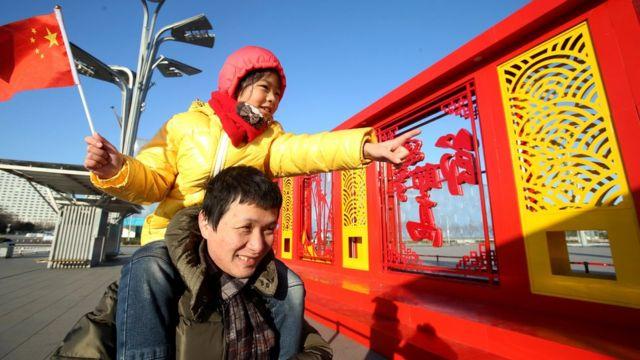 Pai e filha chineses