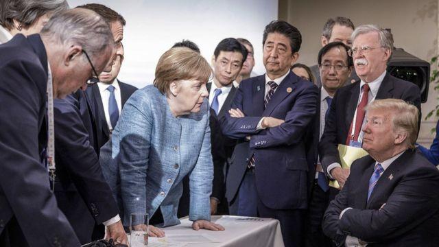 ترامپ در محاصره سران
