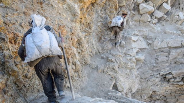 Mineros en Afganistàn.