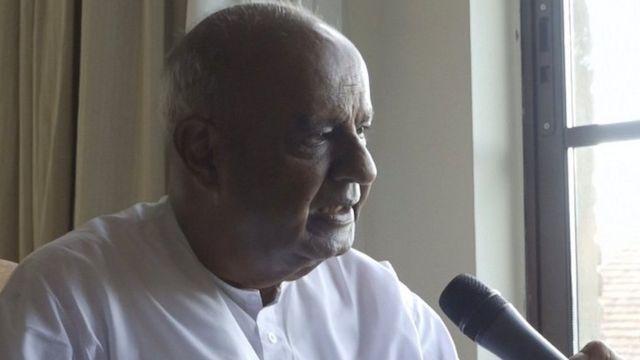 भारतीय पूर्व प्रधानमन्त्री एचडी देवगौडा