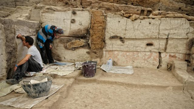 Archaeological excavations in Çatalhöyük