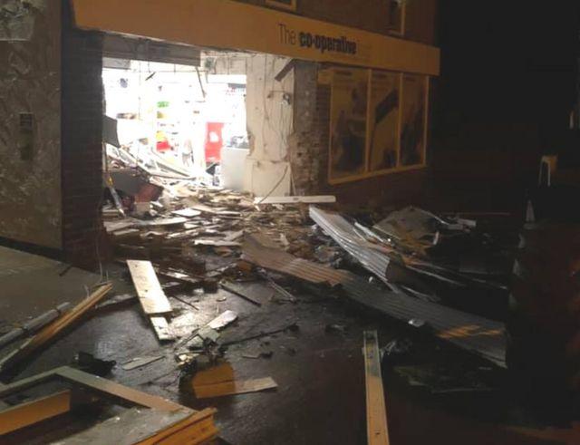 Cash machine robbers destroy Fenny Compton Co-op
