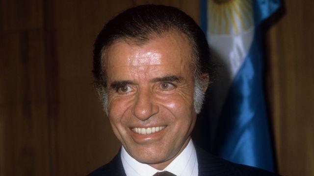 Presidente Carlos Menem en 1991