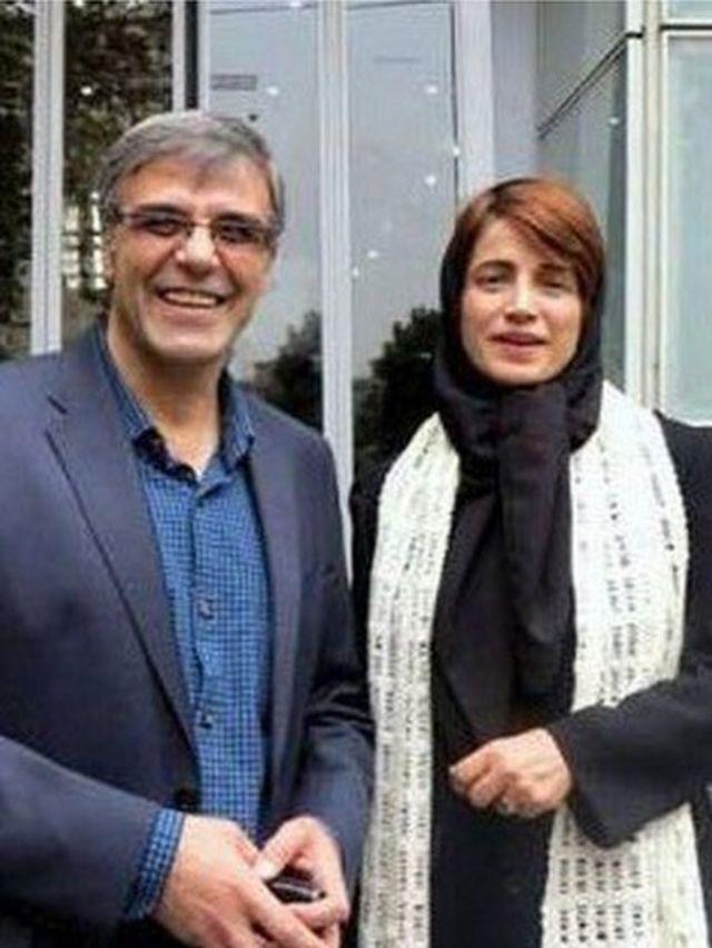 نسرین ستوده کنار همسرش رضا خندان