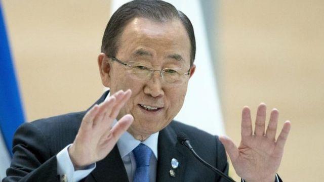 El actual Secretario General de la ONU, Ban Ki-moon.