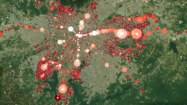 Gráfico de uso de Bilhete Único em São Paulo