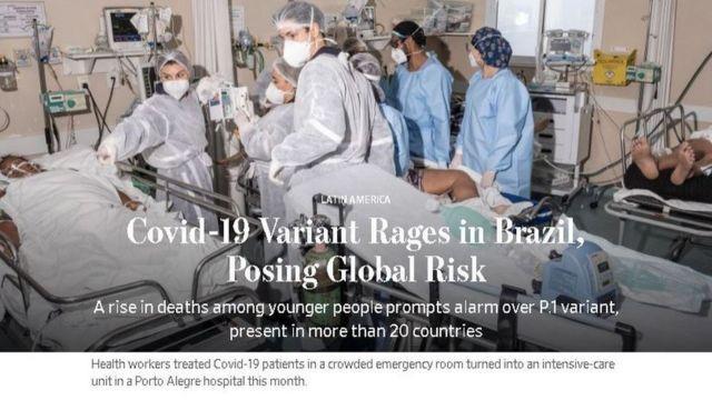 Reportagem do Wall Street Journal fala em risco à saúde pública global
