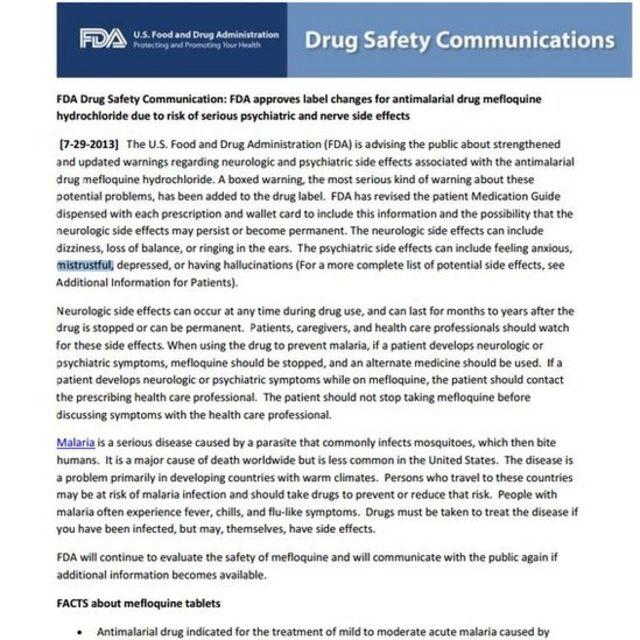 FDA advertencia