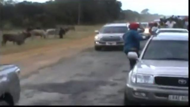 Zambia' President convoy