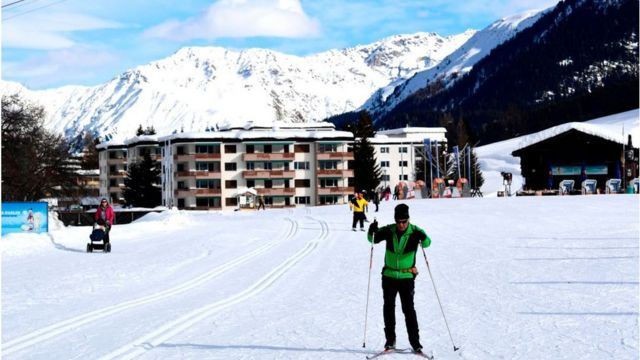 For most of the year Davos is a ski resort
