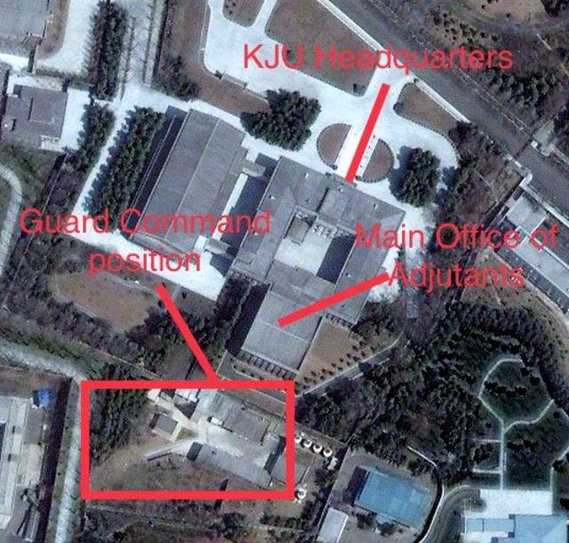 Map of Kim Jong-un's security functions
