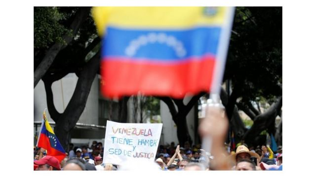 Ato contra governo Maduro