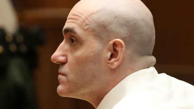 Michael Gargiulo mahkemeye kazınmış saçları ile katıldı
