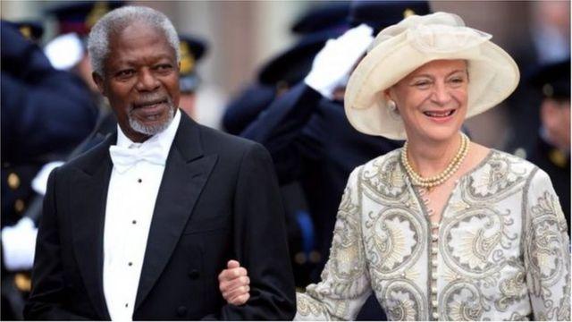 Koffi Annan ati iyawo rẹ keji, Nane