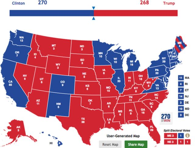 Map of Clinton's firewall