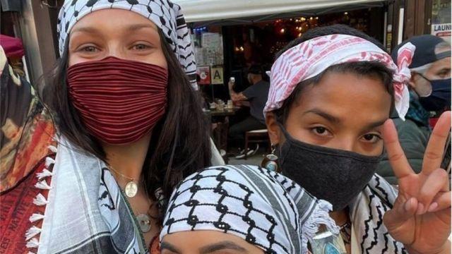 عارضة الأزياء ذات الأصول الفلسطينية بيلا حديد