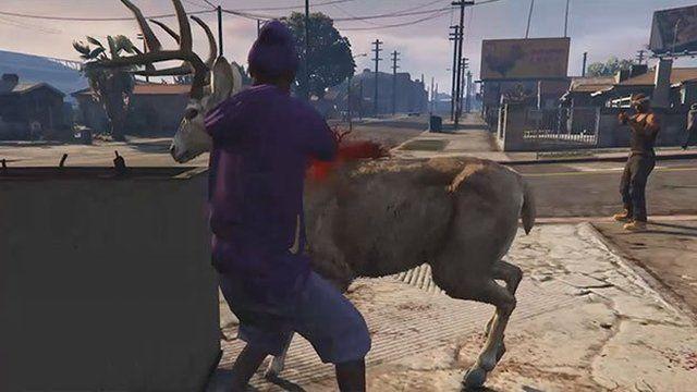 Screenshot from GTA deer cam