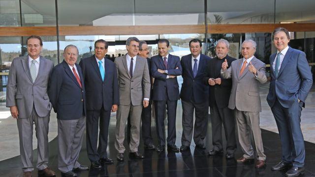 Lula e cúpula do PMDB