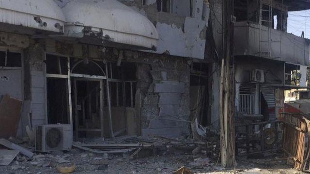 موقع انفجار في بغداد