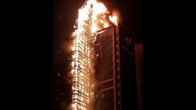韓国・蔚山の33階建てビルで大規模火災 80人以上病院に搬送 - BBCニュース