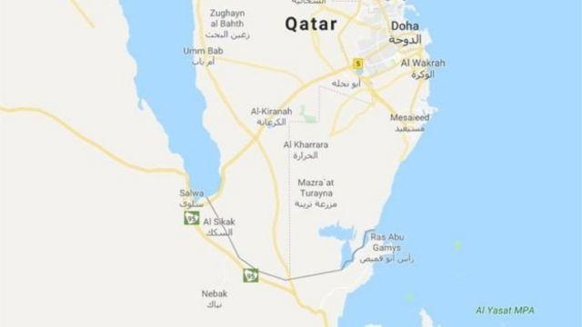 الحدود القطرية السعودية