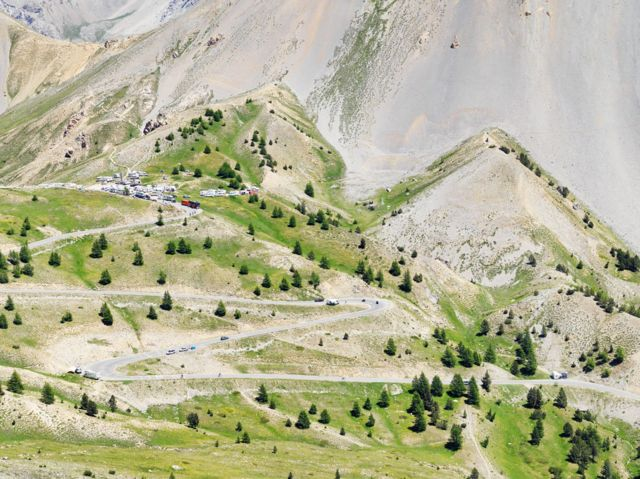 Col d'Izoard: the summit and the descent south towards Guillestre