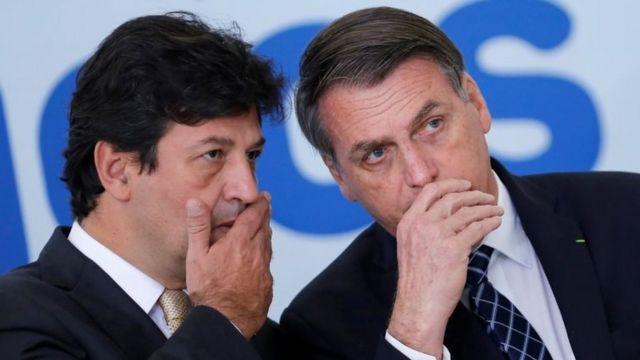 Mandetta y Bolsonaro