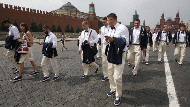 Российская сборная на Красной площади