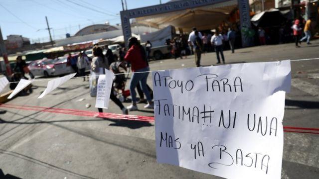 Cartaz em apoio a Fátima