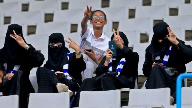 Suporter perempuan Arab Saudi