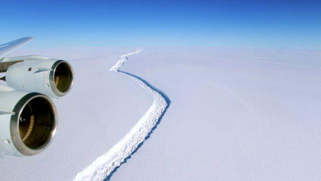 Şelf buzlağında çat