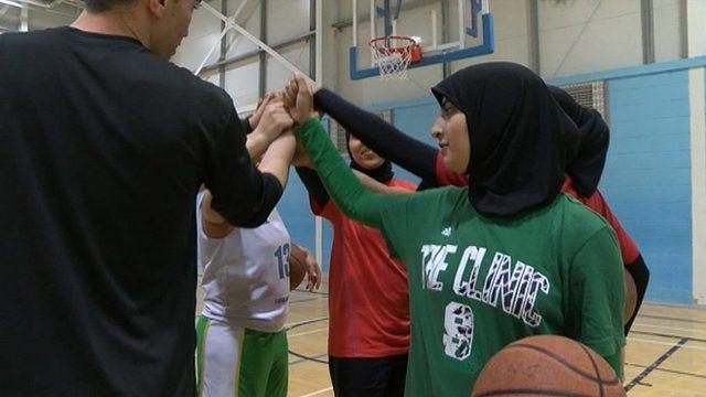Basketball players in Bradford